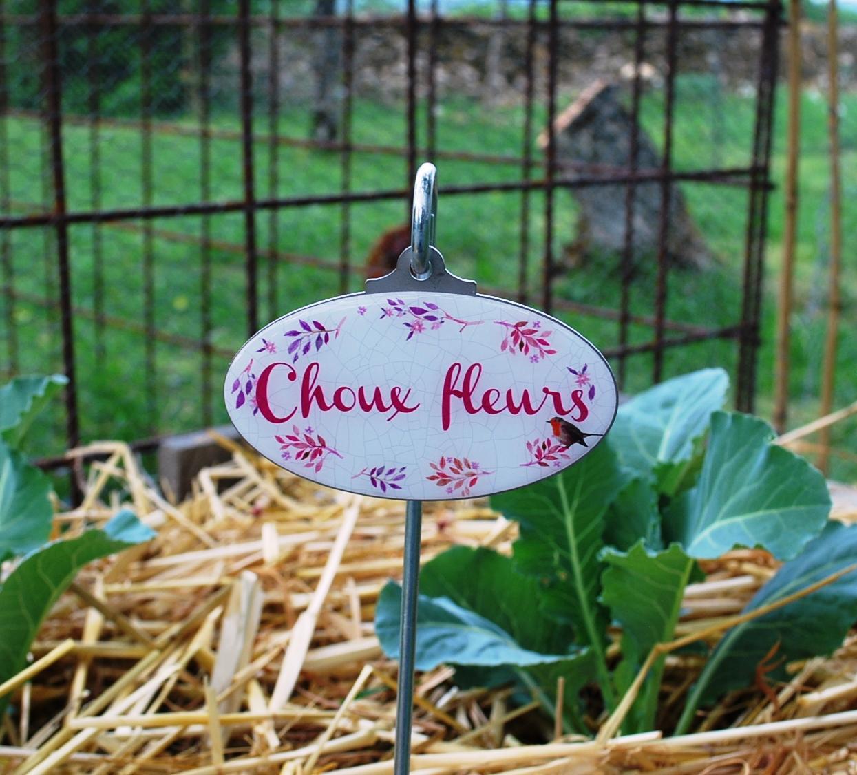 étiquette de jardin