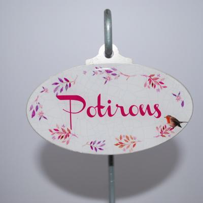 Potirons - étiquette potagère