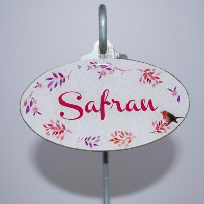 Safran - étiquette à bulbe