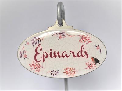 Etiquette de jardin - Epinards