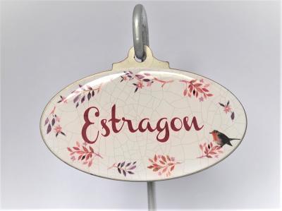 étiquette de jardin Estragon
