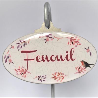 Etiquettes de jardin - Fenouil