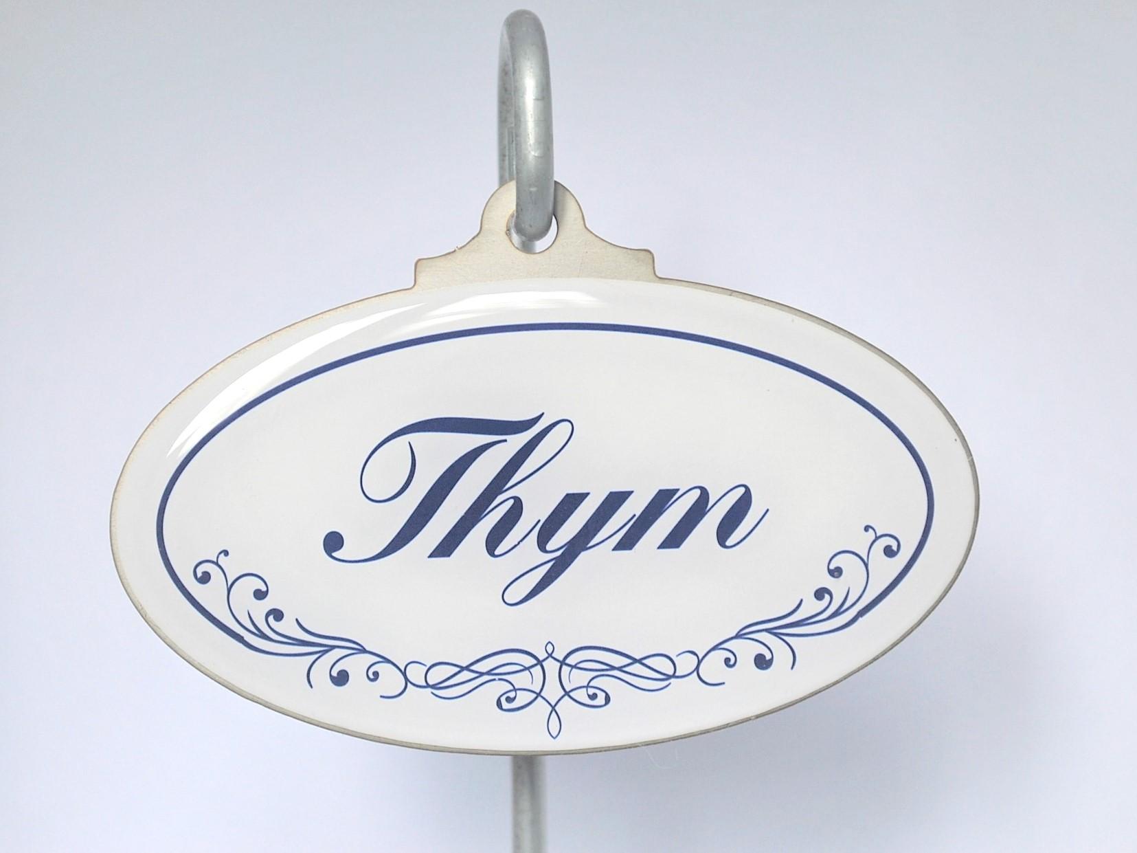 Etiquette jardin ethym