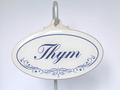 Thym étiquette de jardin